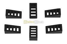 6x LEGO® 61409 Gitter-Dachstein/Schrägstein 18° 2x1x2/3 schwarz black NEU
