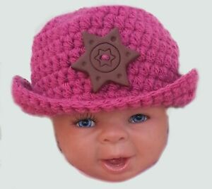 COWBOY BABY GIRLS FEDORA CAP HAT PHOTOGRAPHY PROP OUTFIT rose pink peaked sun