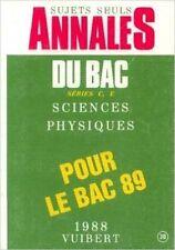 COLLECTIF - sujets seuls, annales du bac séries C et E sciences physiques pour l