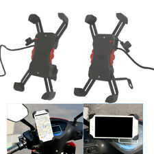 Motorcycle Bike Cycling Bracket Stands Holder with USB Charger for Mobile phones