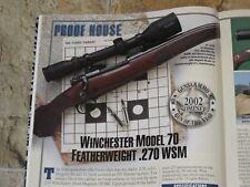 GUNS & AMMO TEST DAN W V22, WIN 70 IN 270WSM, SAV STIKER IN 300WSM, SAKO FINNLIT