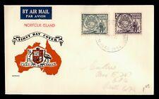 DR WHO 1956 NORFOLK ISLAND FDC LANDING OF PITCAIRN ISLANDERS COMBO  f50721