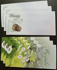 2009 Malaysia Tuber Plants Blank FDC x1 Lot of 3 blank Covers