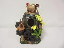 """8"""" Rooster Birdhouse Chickens Farm VR01 Giftco International New"""