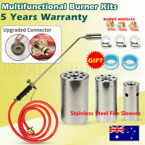 Powerful Weed Burner Kit Shrub Grass Killer Butane Gas Torch Garden Tool+Nozzles