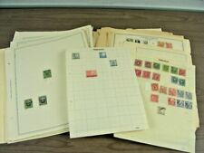 PERU, SWEDEN, Accumulation of 100s of Stamps hinged on remainder pages