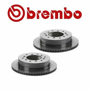 Set of 2 Brembo Rear Disc Brake Rotors For Lexus GX470 Toyota Sequoia 4Runner