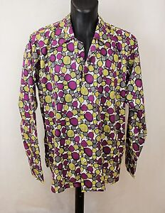 Mens Vintage 70s Style Disco Prince Crazy Shirt Psychedelic Festival M to L