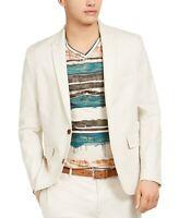 INC International Concepts Men's Big & Tall Linen Jasper Blazer 3XLT Beige