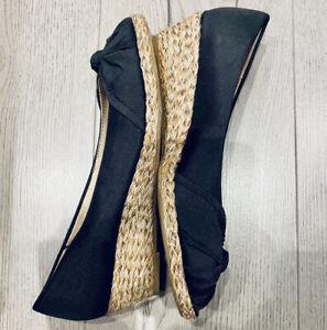 Life Stride Soft System Black Peeptoe Wedge Sandals / Size 6 UK 39 EUR / New