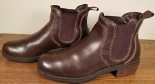 Eastland Double Up Brown Leather Chelsea Ankle Boots 3523-02 Women's Size 9M