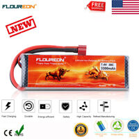 2S 7.4V 3300mAh 35C LiPo Battery Pack for RC Car Truck Drone Helicopter T Plug