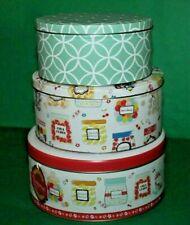 Cooksmart Set Of Three Graduated Cake Tins Storage Biscuits Sweet Treats Design