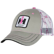 International Harvester Women's Gray IH Patch White Mesh Back Cap