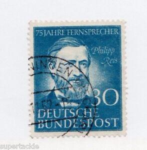 1952 Germany Sc 694 Θ used VF, cds cancel, Phillipp Reis 30pf Telephone service.