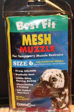 Coastal Best Fit Mesh Muzzle Sz. 6 black new in package