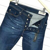 ⭐ mens Diesel Buster regular Slim-Tapered stretch denim jeans wash R7NA8 W31 L32