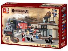 Sluban Toy Building Brick Set * TRAIN + STATION * Railway Edition - 526 Pcs NEW