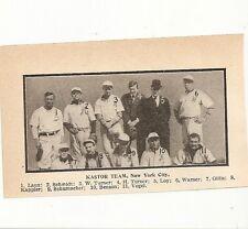 Kastor New York City Baseball 1908 Team Picture