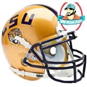 LSU Tigers Mini XP Authentic Gold Helmet by Schutt