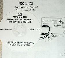 Electro Scientific ESI 253 Digital Impedance Meter OPERATING AND SERVICE MANUAL