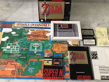 New listing SNES CIB & Tested The Legend of Zelda: A Link to the Past Super Nintendo w/MAP!