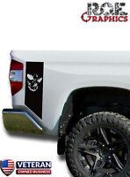 Skull Evil Face Bedside Decals stripe Vinyl Sticker fits 2014-2018 Toyota Tundra