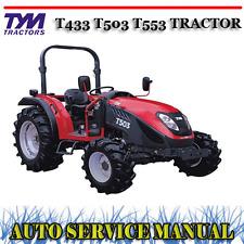 TYM T433 T503 T553 TRACTOR WORKSHOP REPAIR SERVICE MANUAL ~ DVD