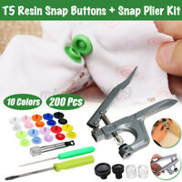 12mm T5 Resin Snaps Buttons Kam Snap Plier DIY Choose Crafts Cloth Kit Tool