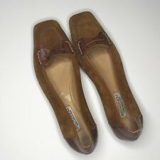 Bruno Magli Womens Brown Suede Loafers 6.5 Slip On