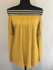 Yahada Silver Addiction Trends womens Yellow Gold Off Shoulders top Size S
