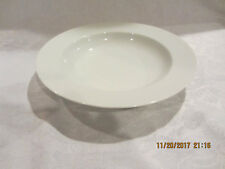 """DANSK Cafe Blanc White Rimmed Soup Bowls 8-3/4"""""""