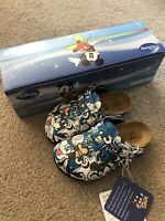 Disney Birkenstocks Infant 8.5 Mickey Goofy Sandals Shoes Slip On Boys Leather