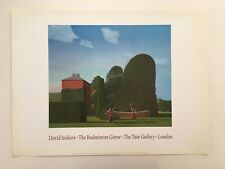 DAVID INSHAW,'THE BADMINTON GAME,1972-3' ,AUTHENTIC 1992 TATE GALLERY ART  PRINT