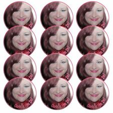 Personalised Photo Hen Do Badges x 12