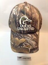 *RARE* DUCKS UNLIMITED CAMO HUNTING CAP HAT - Adjustable STRAPBACK DU Ballcap