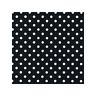 Black Pea 4mm Spot Polycotton Prints Craft Dress Fabric FREE P+P SOLD PER M