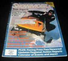 Vintage Snowmobile Magazine polaris yamaha ski doo Kawasaki arctic cat 1985