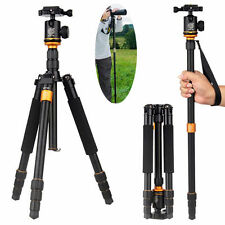 Q999S Professional Photography Portable Aluminum with Ball Head Tripod Monopod