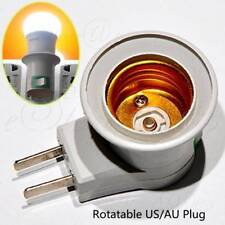 Rotatable US/AU E27 Screw Socket LED Bulb Lamp Base Holder Adapter With Switch