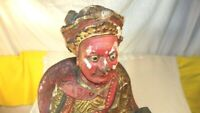 Antique Chinese Qing Dynasty Wooden Statue-Guilt and Golden-Super NICE piece!
