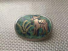 Sterling Silver Donkey Pin/Pendant Vintage Taxco,Mexico Metales Casados