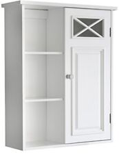 Wall Mount Bathroom Cabinet Shelving Storage Furniture Unit 20 x 25 Inches White