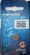 Renata Lithium Batterie CR1025, ED: 08.2020, 3 Volt, Swiss Made