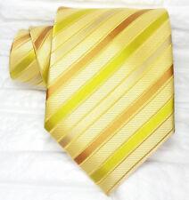 Cravatta ORO Uomo Nuova 100% seta Top quality Made in Italy marca Morgana