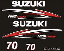 Adesivi motore marino fuoribordo Suzuki 70hp four stroke