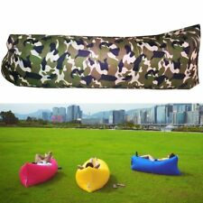 Lazy Inflatable Air Sleeping Bag Sofa Outdoor Camping Beach Lounge Bed