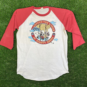 Vtg 80s Carburs Restaurant Funny Vermont Travel Tee T Shirt raglan beer 50/50