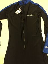 New listing Neosport 50+ Uv Wetsuit Black With Blue New Half Zip Large