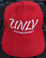 Vintage 90s UNLV Runnin Rebels Sports Specialties Script Snapback Hat Wool PRO
